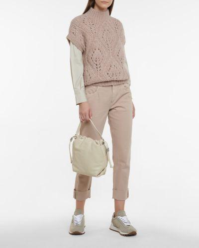 Шерстяной свитер - фиолетовый Brunello Cucinelli