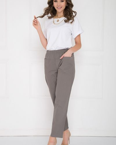 Прямые брюки вельветовые на резинке Bellovera