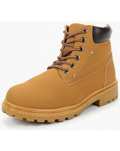 Кожаные ботинки осенние коричневые Topway