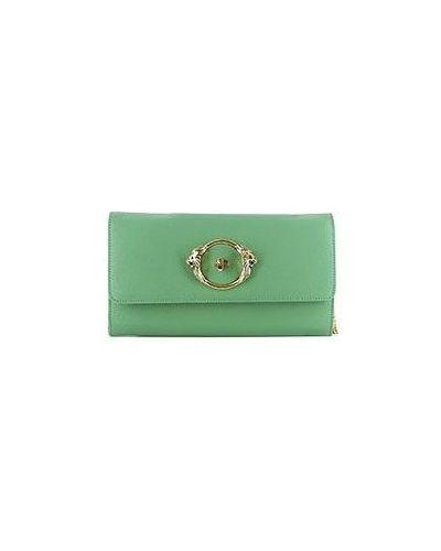 Клатч зеленый Roberto Cavalli