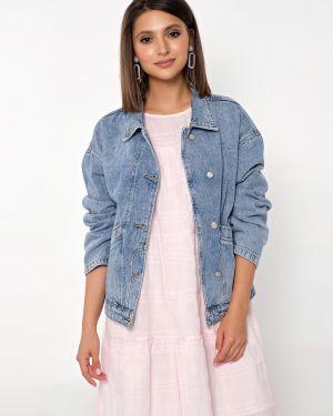 Свободная джинсовая куртка с манжетами с поясом на пуговицах Jetty