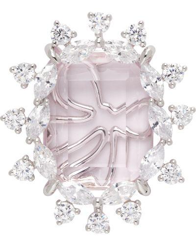 Różowe kolczyki srebrne Shushu/tong