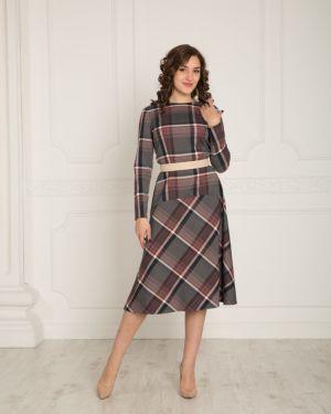 Платье с вырезом шерстяное Lautus