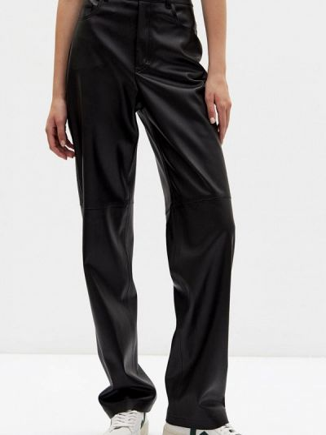 Черные кожаные брюки Lime