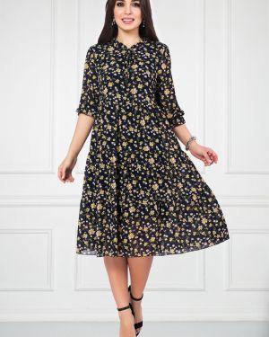 Платье с цветочным принтом шифоновое Bellovera