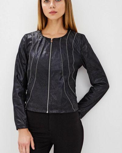 Кожаная куртка весенняя черная Laura Jo