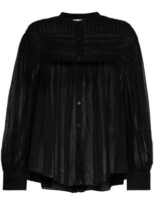 Ватная хлопковая черная блузка Isabel Marant Étoile
