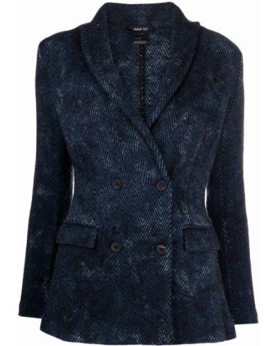 Синий пиджак двубортный Avant Toi