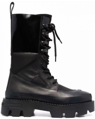 Ботильоны на каблуке - черные Misbhv