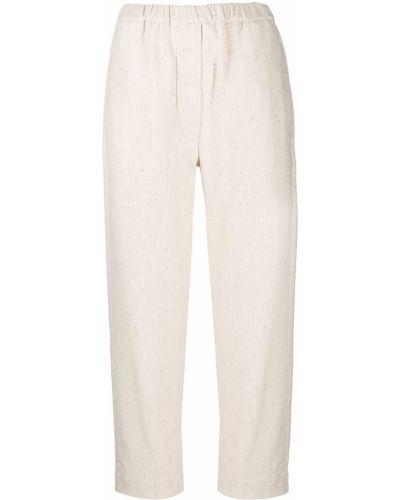 Шерстяные прямые укороченные брюки с высокой посадкой Tela