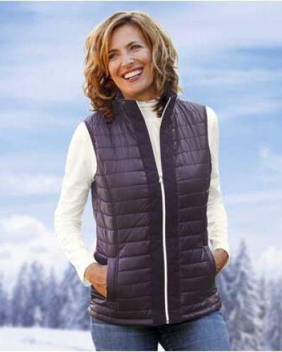 Теплая фиолетовая стеганая куртка на молнии из плотной ткани Atlas For Men