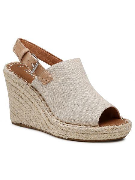 Sandały espadryle - beżowe Toms