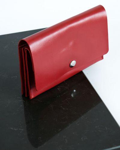 Деловой красный кожаный кошелек Kozhanty