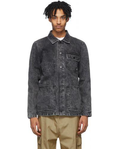 Z rękawami niebieski kurtka jeansowa z kołnierzem z kieszeniami Vans