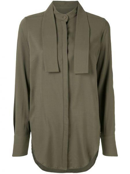Шерстяная рубашка - зеленая Strateas Carlucci
