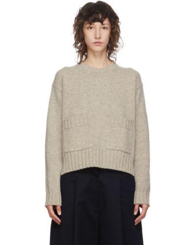 Шерстяной свитер с воротником с карманами с манжетами Studio Nicholson