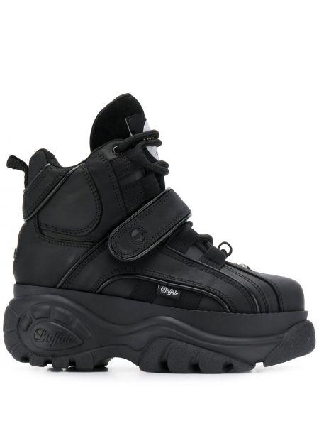 Черные высокие кроссовки на шнуровке с заплатками Buffalo