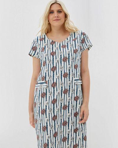 Разноцветное платье - белое Balsako
