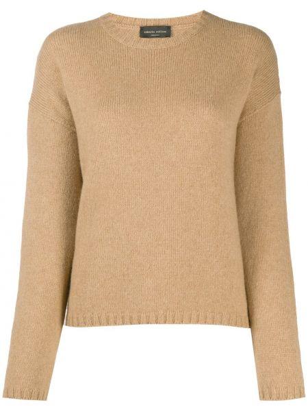 Шерстяной длинный свитер с вырезом круглый Roberto Collina