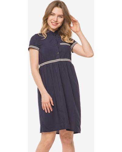 Синее платье с воротником Modniy Oazis