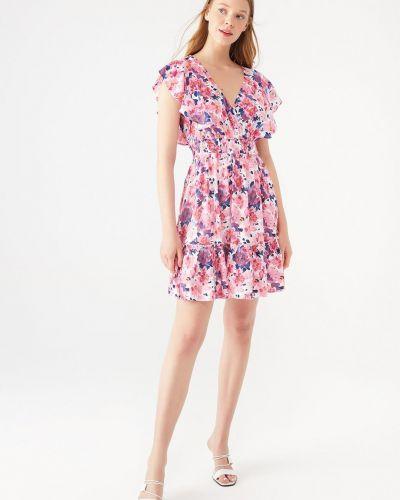 Розовое платье из вискозы Mavi