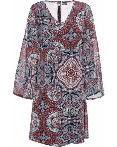 Платье в стиле бохо с V-образным вырезом Bonprix