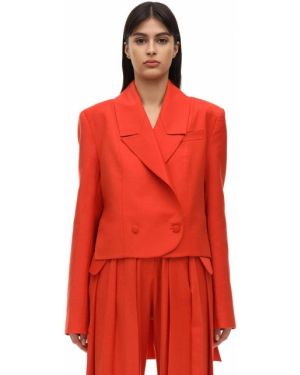 Шерстяной пиджак с карманами с отворотом Matériel