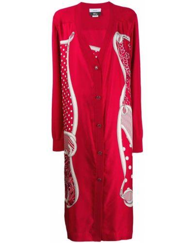 Коралловое шерстяное длинное пальто Monse