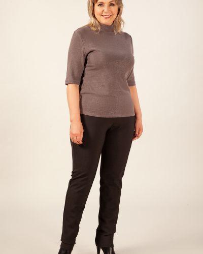 Повседневные нейлоновые зауженные теплые брюки на резинке милада