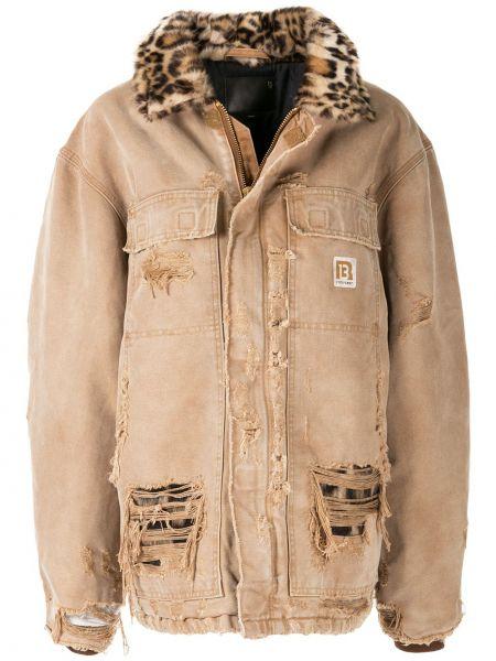 Джинсовая куртка на пуговицах на молнии R13