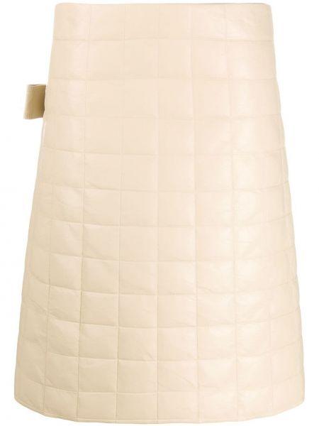 Кожаная юбка миди Bottega Veneta