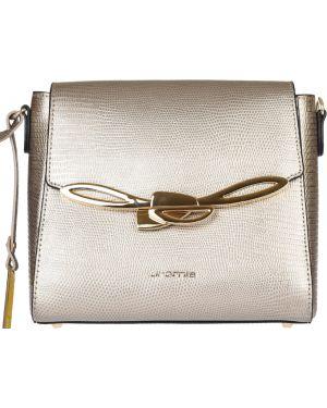 Кожаная сумка - золотая Cromia