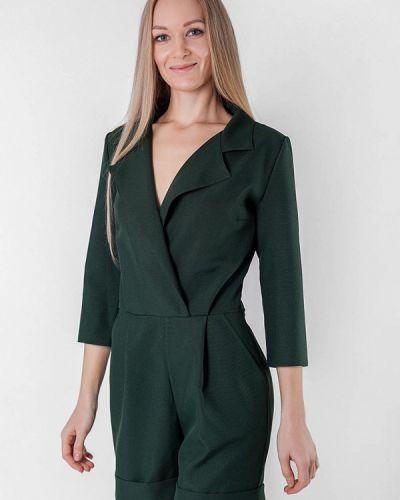 Комбинезон с шортами зеленый Подіум
