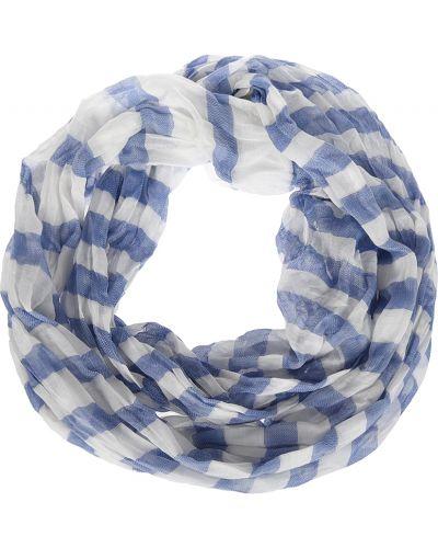 Шарф весенний голубой Emporio Armani