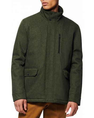 Зеленая стеганая длинная куртка на молнии Marc New York