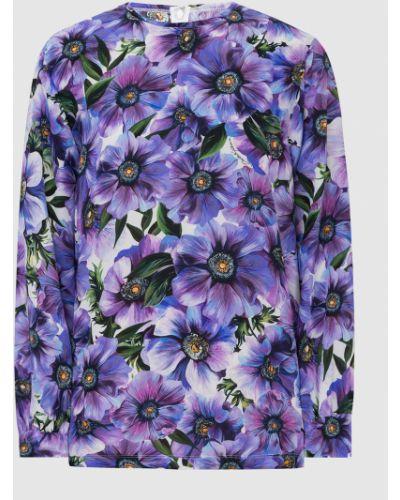 Шелковая сиреневая блузка Dolce&gabbana