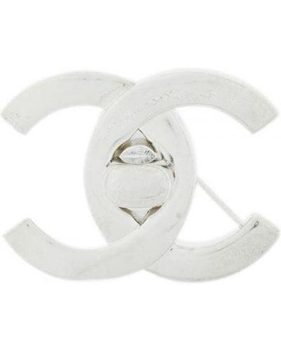 Брошь винтажная металлическая Chanel Vintage