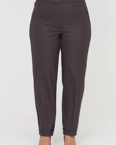 Коричневые классические брюки Intikoma