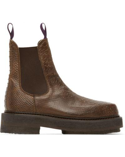 Кожаные черные ботинки челси на каблуке Eytys