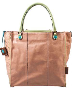 Кожаная сумка - розовая Gabs
