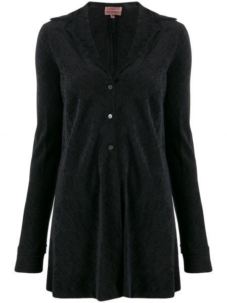 Черная длинная куртка с манжетами Romeo Gigli Pre-owned
