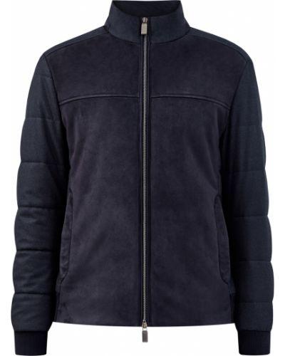 Замшевая черная куртка с воротником Canali