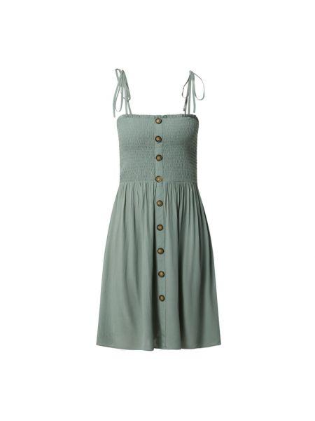 Zielona sukienka rozkloszowana z wiązaniami Only