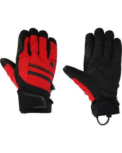 Красные кожаные перчатки Descente
