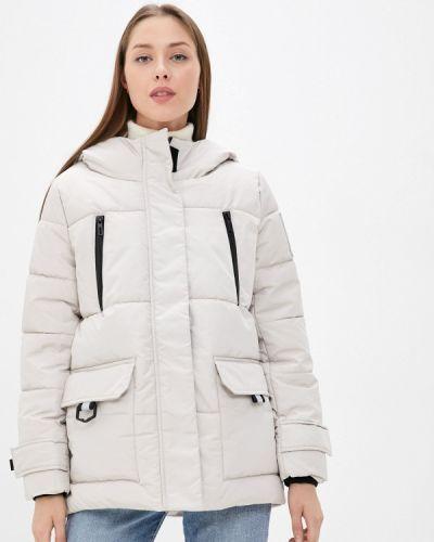 Серая утепленная куртка Zolla