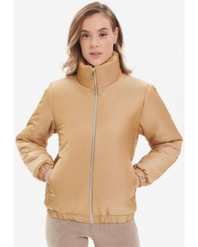 Бежевая утепленная куртка Madlen