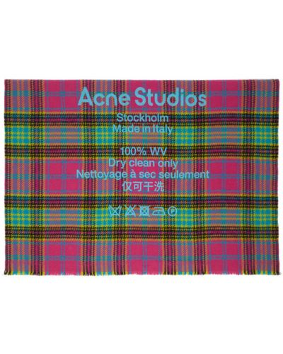 Żółty szalik wełniany Acne Studios