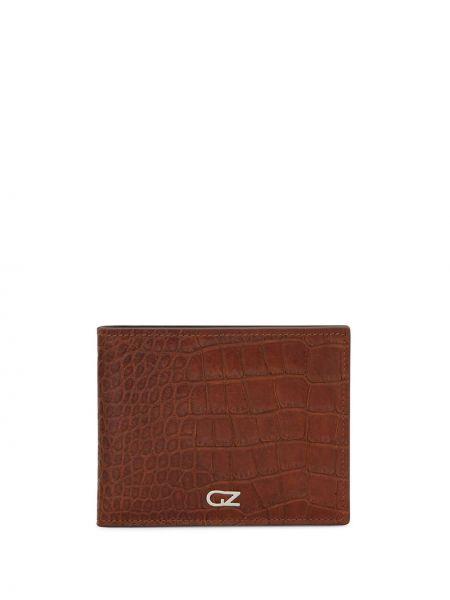 Brązowy portfel skórzany Giuseppe Zanotti