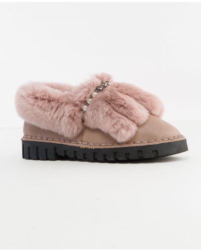 Замшевые туфли розовый Gifanni