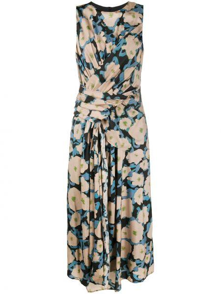 Шелковое платье с драпировкой без рукавов Christian Wijnants